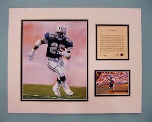 Dallas Cowboys EMMITT SMITH 1993 NFL Football 11x14 Matted Kelly Russell Print