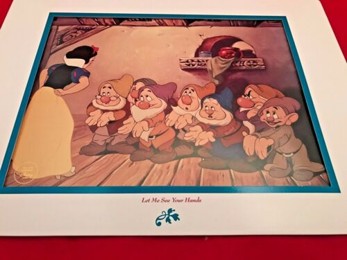 LTD EDITION Print Snow White /& the Seven Dwarfs LITHOGRAPH Let Me See Your Hands