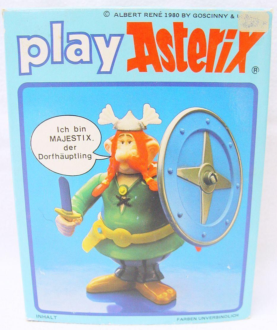 1x Ceji Toy Cloud PLAY ASTERIX Comic Book Character MAJESTIX Figure Set MIB`80