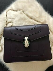 Details about BULGARI SERPENTI FOREVER FLAP COVER BAG ~ GUARANTEED 100% AUTHENTIC