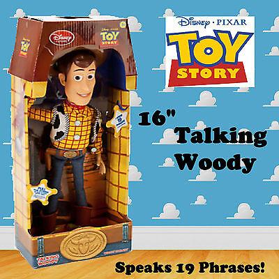 BRAND NEW Disney Toy Story Talking Woody Soft Toy Figure Doll Speaks 19 Phrases!