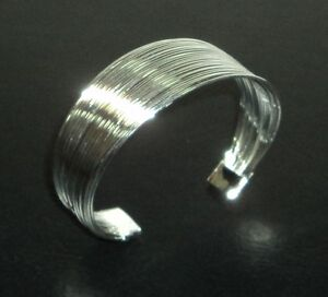 Cuff-Bracelet-Sterling-Silver-925-With-Drawstring-Pouch-NEW-003