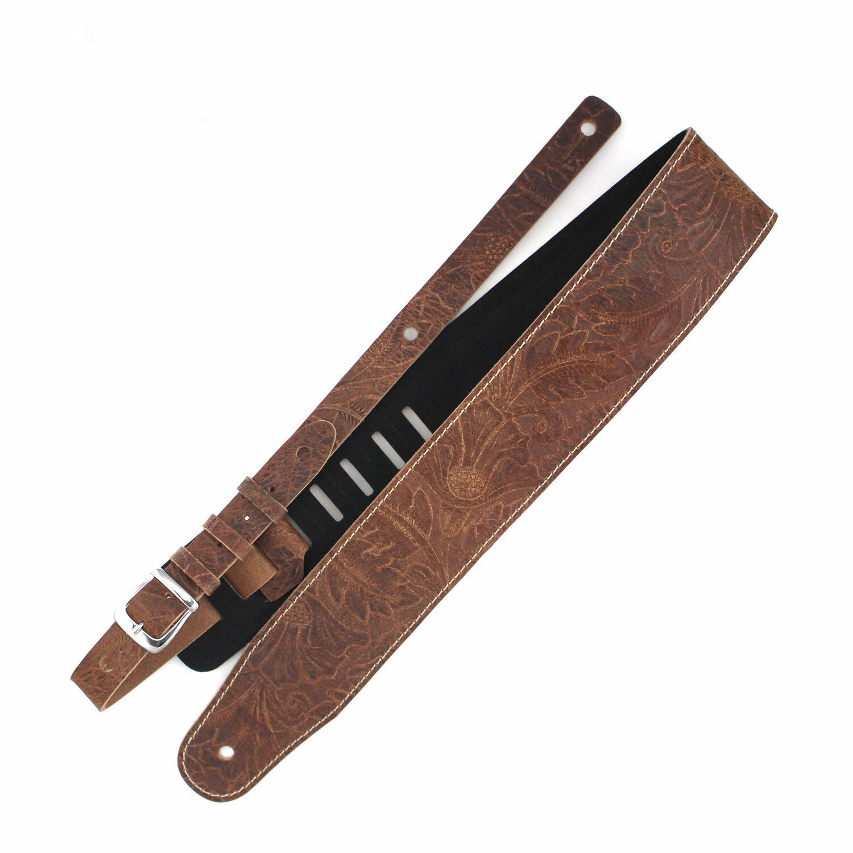 Richter Leder Luxury Jaro Natural - Handgearbeiteter Gitarrengurt