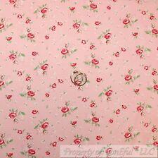 BonEful Fabric Cotton Quilt Pink Girl Green Leaf Rose Flower Shabby Chic L SCRAP
