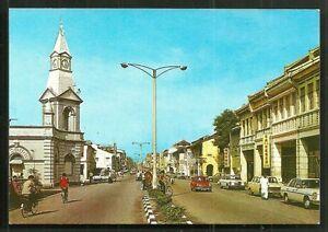 Taiping-Main-Road-Clock-Tower-Shops-Cars-Perak-Malaysia-70s