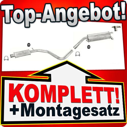 Auspuff FIAT STILO 1.9 D JTD MJT Schrägheck 2001-2007 Auspuffanlage 137