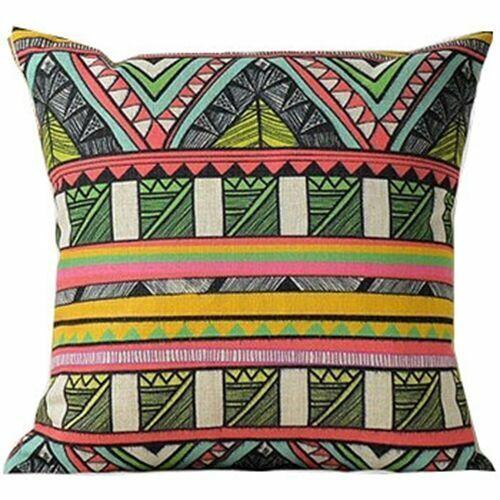 Geometric Bohemian Decoration Case Cushion Linen Home Decor Cotton Cover Pillow