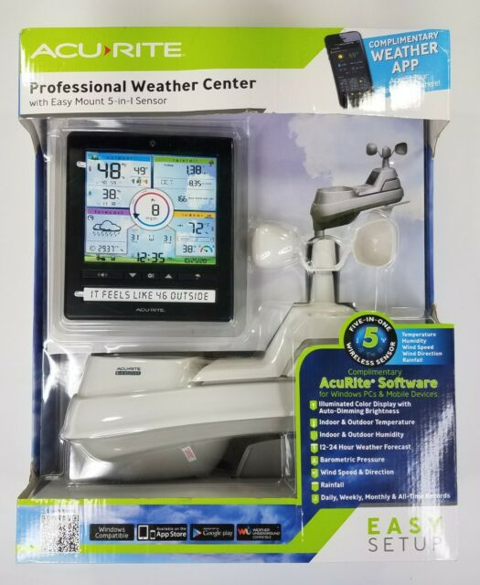 AcuRite Wireless Home Station (01536) with 5-1 Sensor and Android iPhone Weather