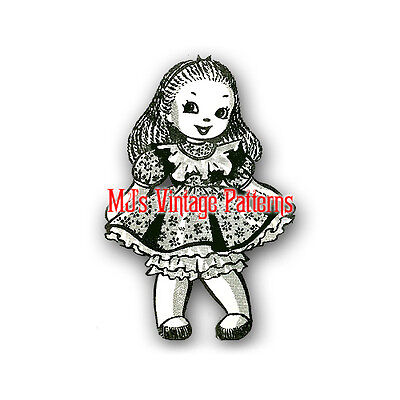 Vintage Pattern for Alice in Wonderland Stuffed Sock Doll