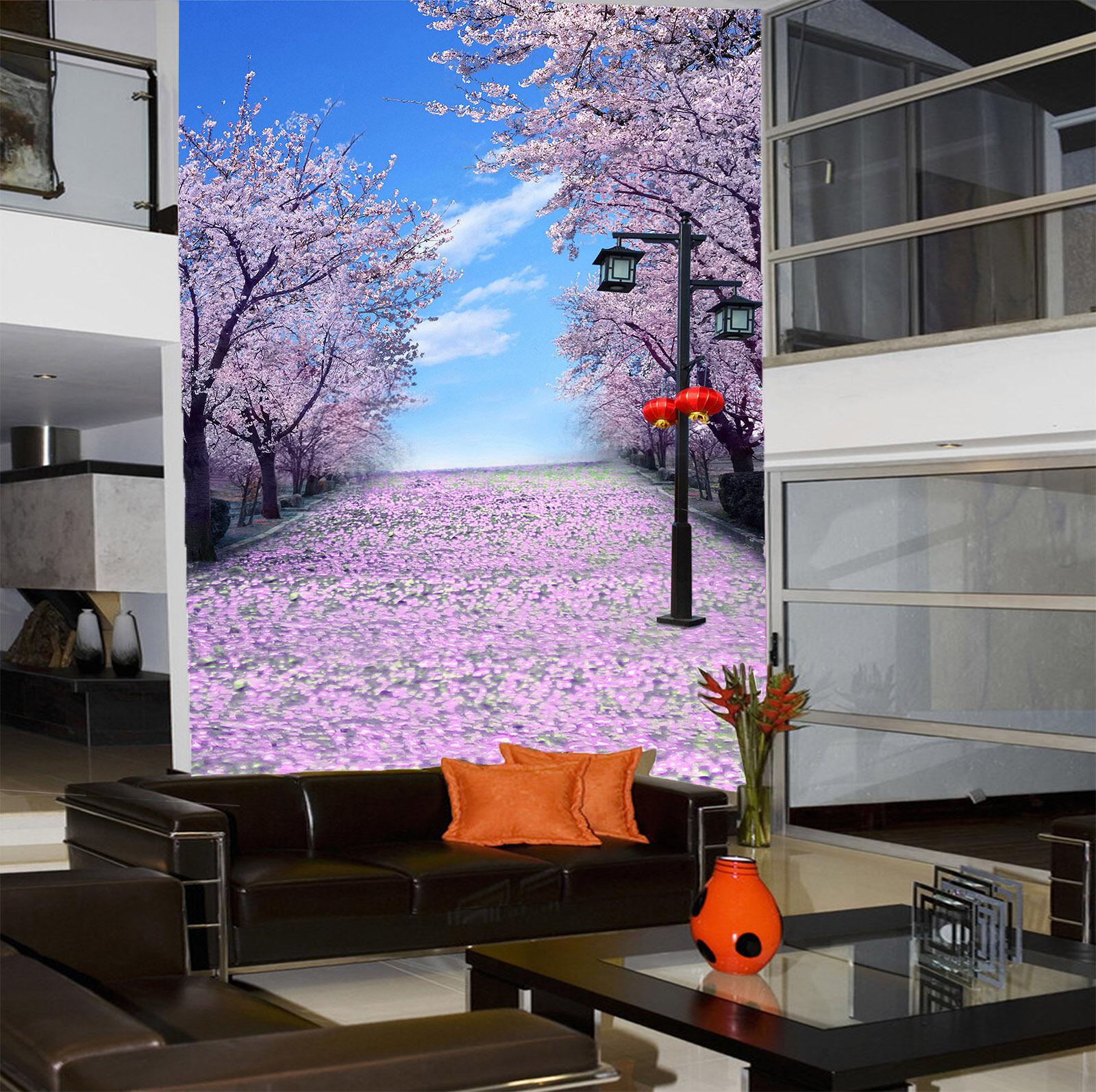 3D Ciliegio Terra Parete Murale Foto Carta da parati immagine sfondo muro stampa