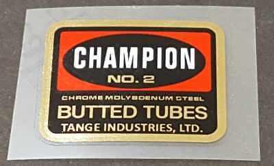 sku Tang805 TANGE 2 Tubing Decal