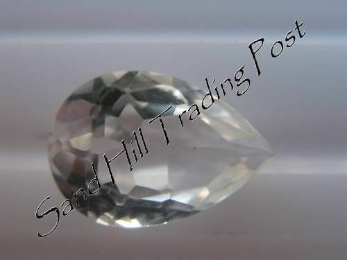 Natural 9x6 Loose Pear Shape 1.61ct White Topaz AAA