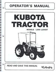 kubota l295 tractor operator\u0027s manual w wiring diagram \u0026 maintenanceimage is loading kubota l295 tractor operator 039 s manual w
