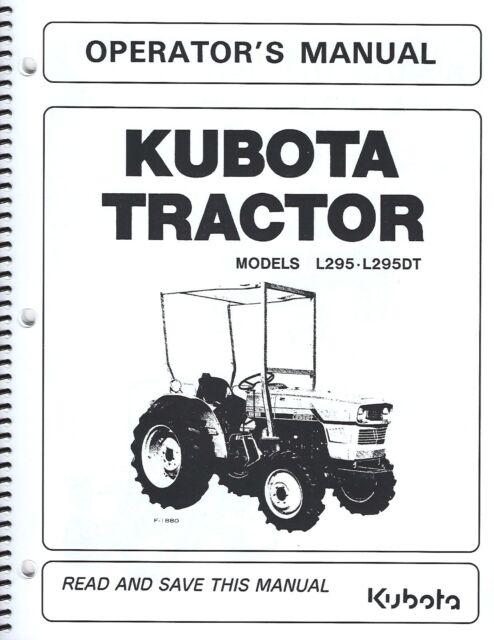 Prime Kubota L295 Tractor Operators Manual W Wiring Diagram Maintenance Wiring 101 Vihapipaaccommodationcom
