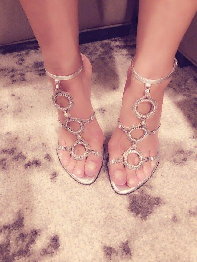 Steve madden Luxe Silber Jeweled Strappy Heels Größe Größe Größe 6 73f06f