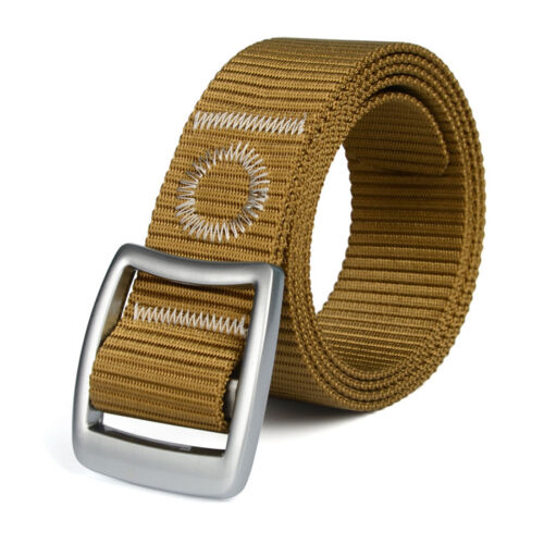 3.8CM Fashion Mens Nylon Belt Quick Dry Outdoor Sports Webbing Waist Band Straps