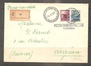 Details about Letter cover italia italy to francia expozisione filatelica  torino 1947- show original title