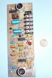 Vintage-CONTRONIC-Ultrasound-Motion-Detector-PCB-Assy-In-Working-Condition