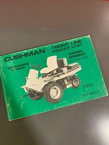 Details about Cushman Frontline Tractor Operator's Manual 898805 Diesel  Rotary Rough Mower