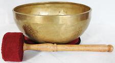 "E647 Energetic Root 'C#' Chakra Healing Tibetan Singing Bowl  9.2"" Made in Nepal"