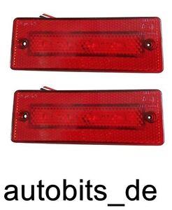 2x-4-LED-24V-Rot-Begrenzungsleuchte-Positionsleuchte-Umrissleuchte-Schlepper-PKW