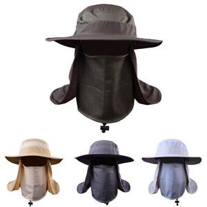 Outdoor-Sun-Protection-Fishing-Cap-Neck-Face-Flap-Hat-Wide-Brim-Cover-Unisex-Hat