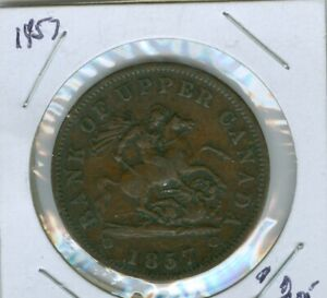 1857-CANADIAN-COPPER-PENNY-034-BANK-OF-UPPER-CANADA-034