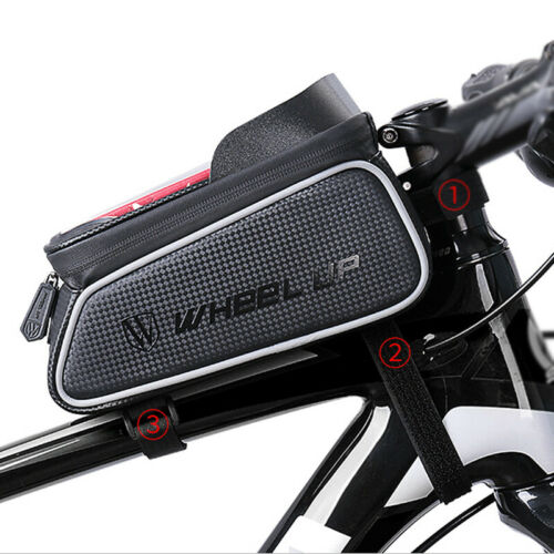 Bicycle Front Frame Triangle Mountain Bike Bag Pouch Tube Holder Waterproof MTB