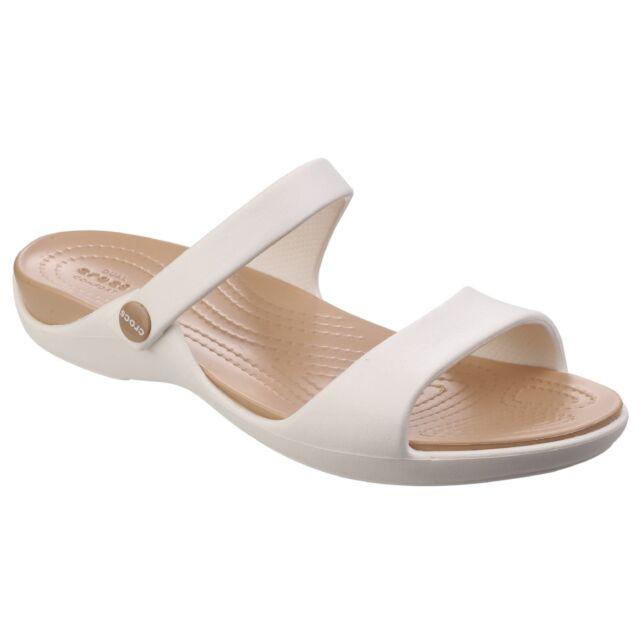 Crocs Donna Cleo V Sandali Oyster oro Uk5   US M5-w7  2967f65da18