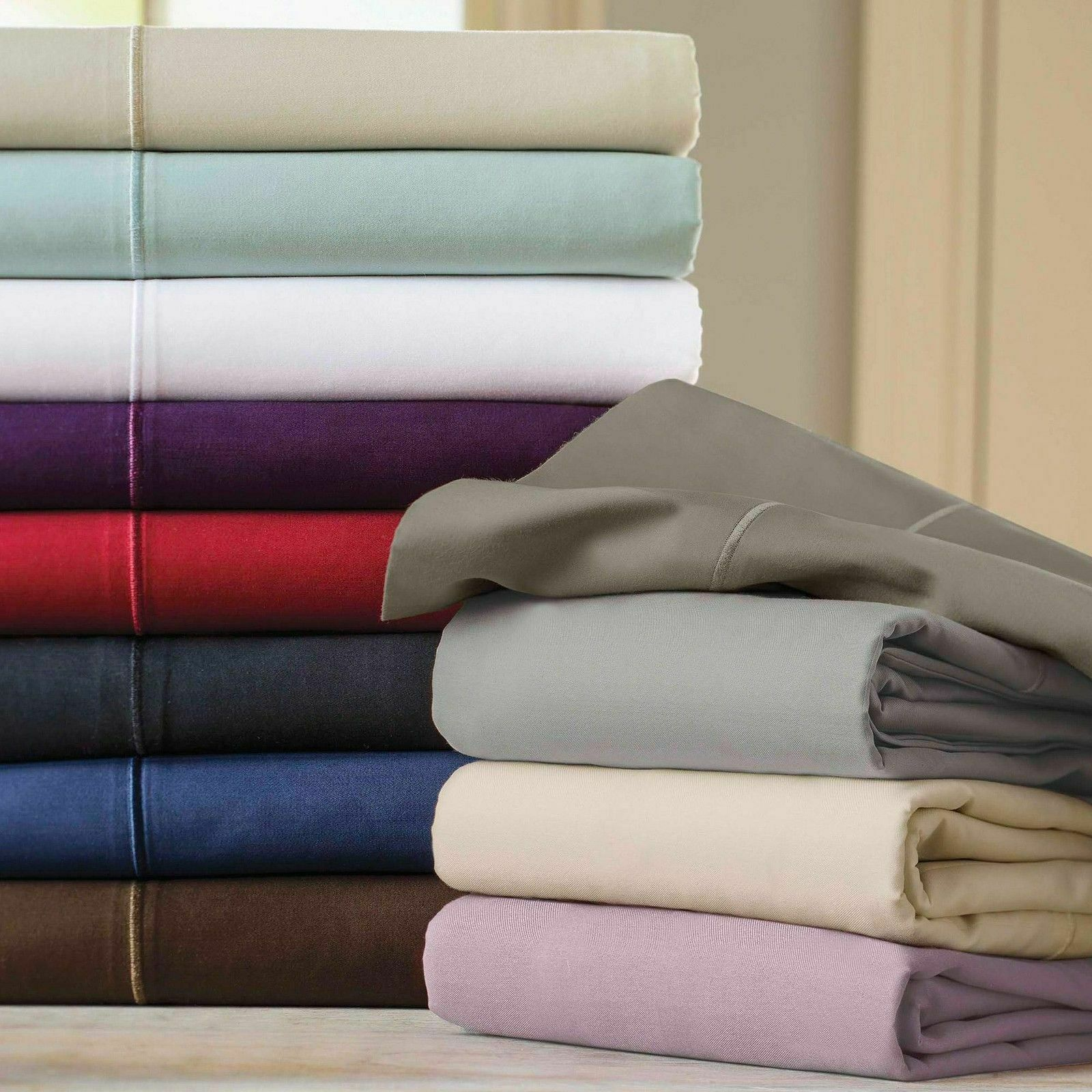 Bedding Collection 1000 TC Egyptian Cotton Select Solid colors US Twin XL