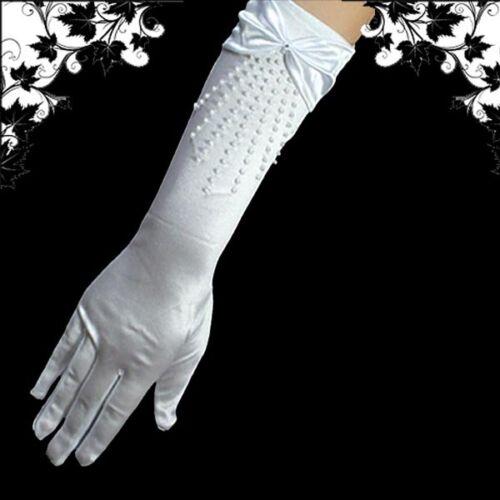 Elegant Brauthandschuhe Handschuhe,Weiß,35cm,HS-BF-W