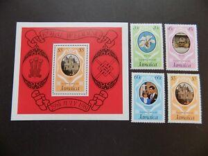 (4) Neuf Sans Charnière Jamaica Stamps Off Papier Scott # 500-03 - Inclus Un S/shee-t503a-afficher Le Titre D'origine