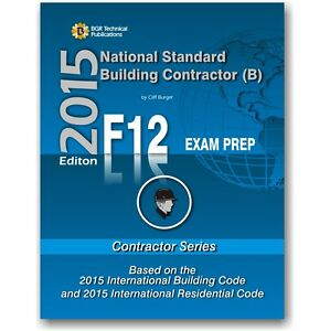 Details about F12 National Standard General Building Contractor Exam  Questions Workbook ICC