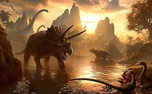 Dinosaur Giant Poster A0 A1 A2 A3 A4 Sizes