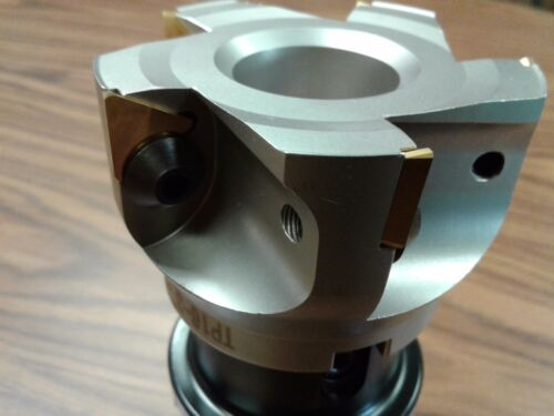 """BT40 face milling cutter  #506-FMT-3-new 3/"""" 90 degree indexable face shell mill"""