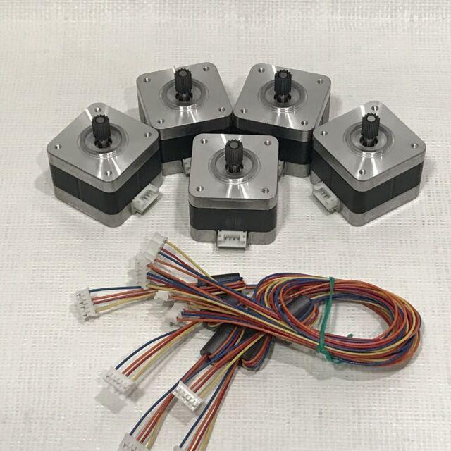 5 pcs nema 17 stepper motor kit 12v cnc 3d printer extruder surplus