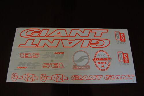 Giant Stickers Set Blanc XTC SE1 ORANGE /& ARGENT