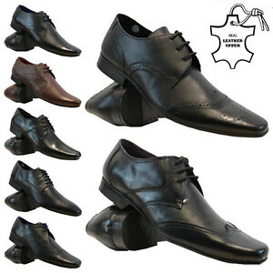 Image Is Loading New Mens Real Leather Italian Casual Formal Brogue