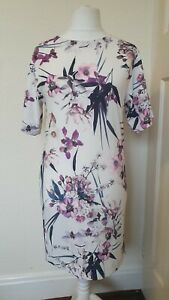 M-amp-S-Coleccion-Floral-Print-cambio-Wiggle-Vestido-Talla-10