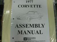 1977 Corvette (all Models) Assembly Manual