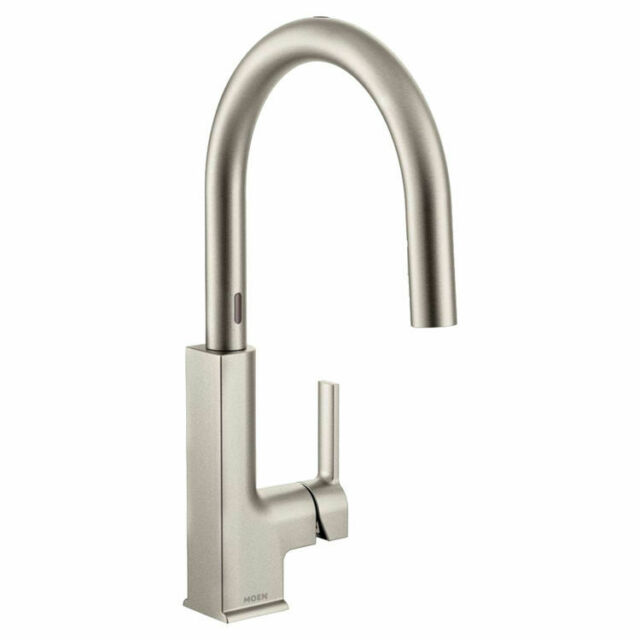 Moen S72308ESRS STo 1-Handle High-Arc Touchless Kitchen Faucet in Stainless