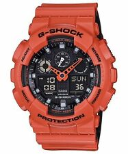 CRAZY DEAL CASIO G-SHOCK GA100L-4A MILITARY 3-EYE ORANGE/BLACK ANA-DIGI WATCH