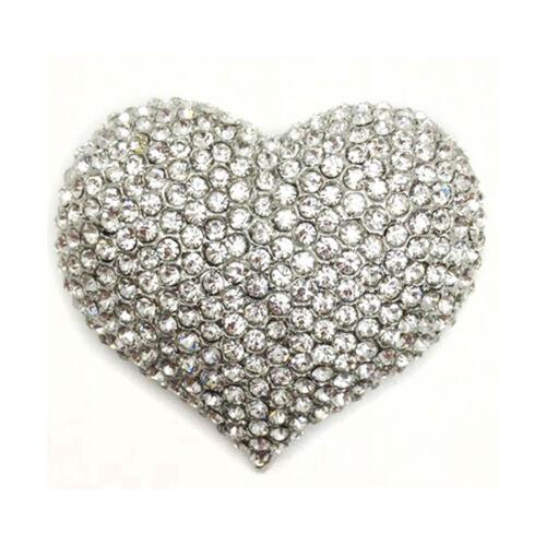 Nuevo Mujeres Corazón Amor Broche Diamante Cristal Pin Insignia de San Valentín Regalo Brillante