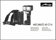 digital owners manual on disk,exploded view,for Metz Mecablitz 60-CT4  system