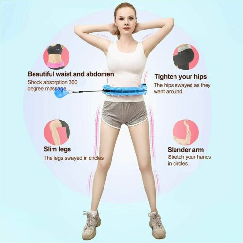 Sport Hula Hoop Fitness Yoga Circle Massge Adjustable Not Fall Detachable