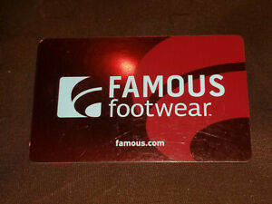 Famous Footwear Gift Card 100 New Unused Norcal Free Shipping 848719077834 Ebay