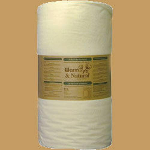"""18"""" x 90"""" (1/2 yard) Warm and & Natural Cotton Batting Soup Bowl Cozy Lining"""