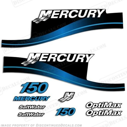 Mercury 150hp Outboard Decal Kit Blau or ROT 150 1999-2004- 1999-2004- 1999-2004- All Models Available 9a3e66