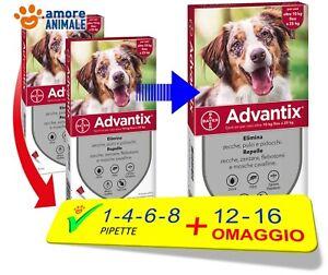 Advantix Bayer - Per cani da 10-25 kg - 1 / 4 / 6 / 8 / 12 / 16 pipette / oltre