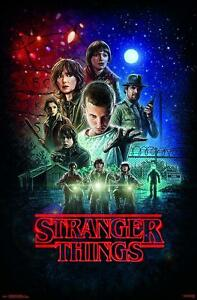 Details About Stranger Things Poster TV Show Group Motorcycles Thriller  Home Trippy Wall Decor